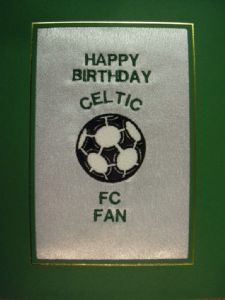 PERSONALISED EMBROIDERED CELTIC FC CARD - FOOTBALL